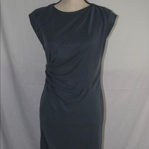 Topshop Grey Dress with side Ruching Size US 4 New